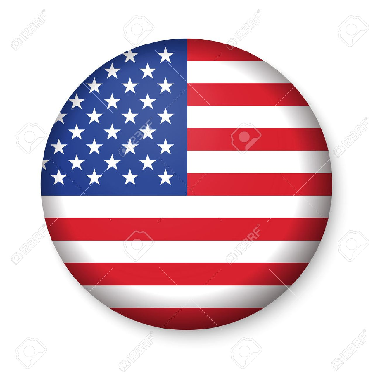 american united states flag in glossy round button of icon usa rh 123rf com usa flag coloring sheet us flag logo's