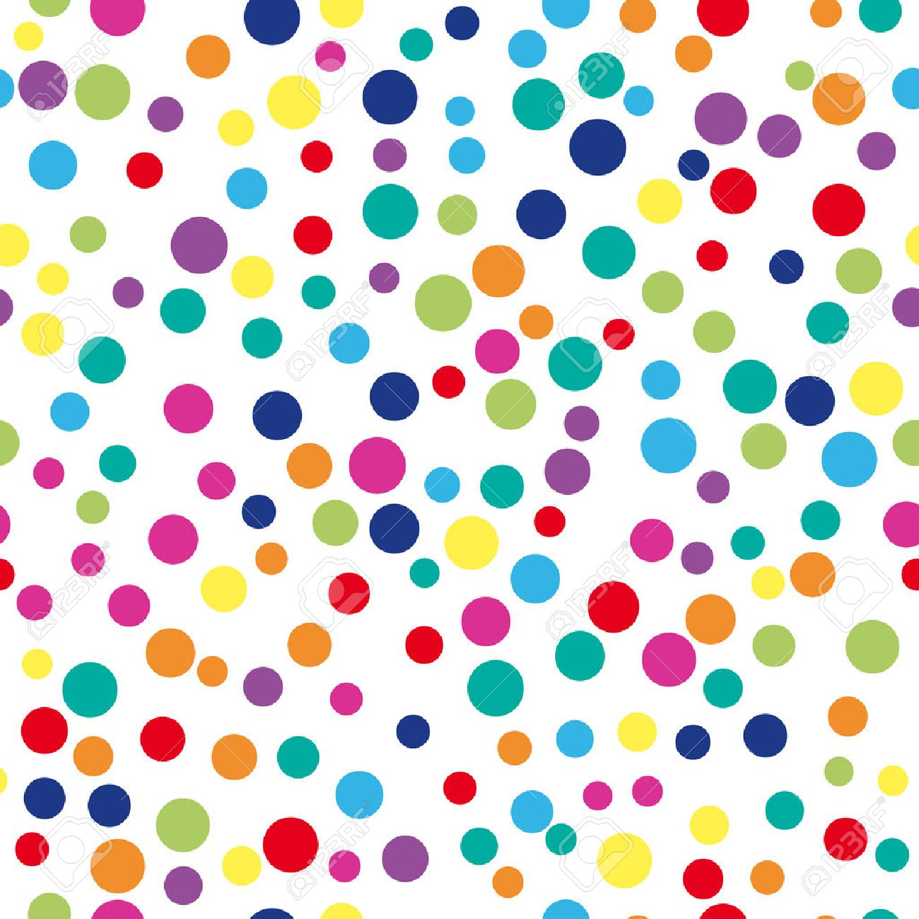 Colorful abstract dot background. illustration for bright design. Circle art round backdrop. Seamless pattern decoration. Color texture holiday element wallpaper. Decor fun spot card Happy mood - 57583904