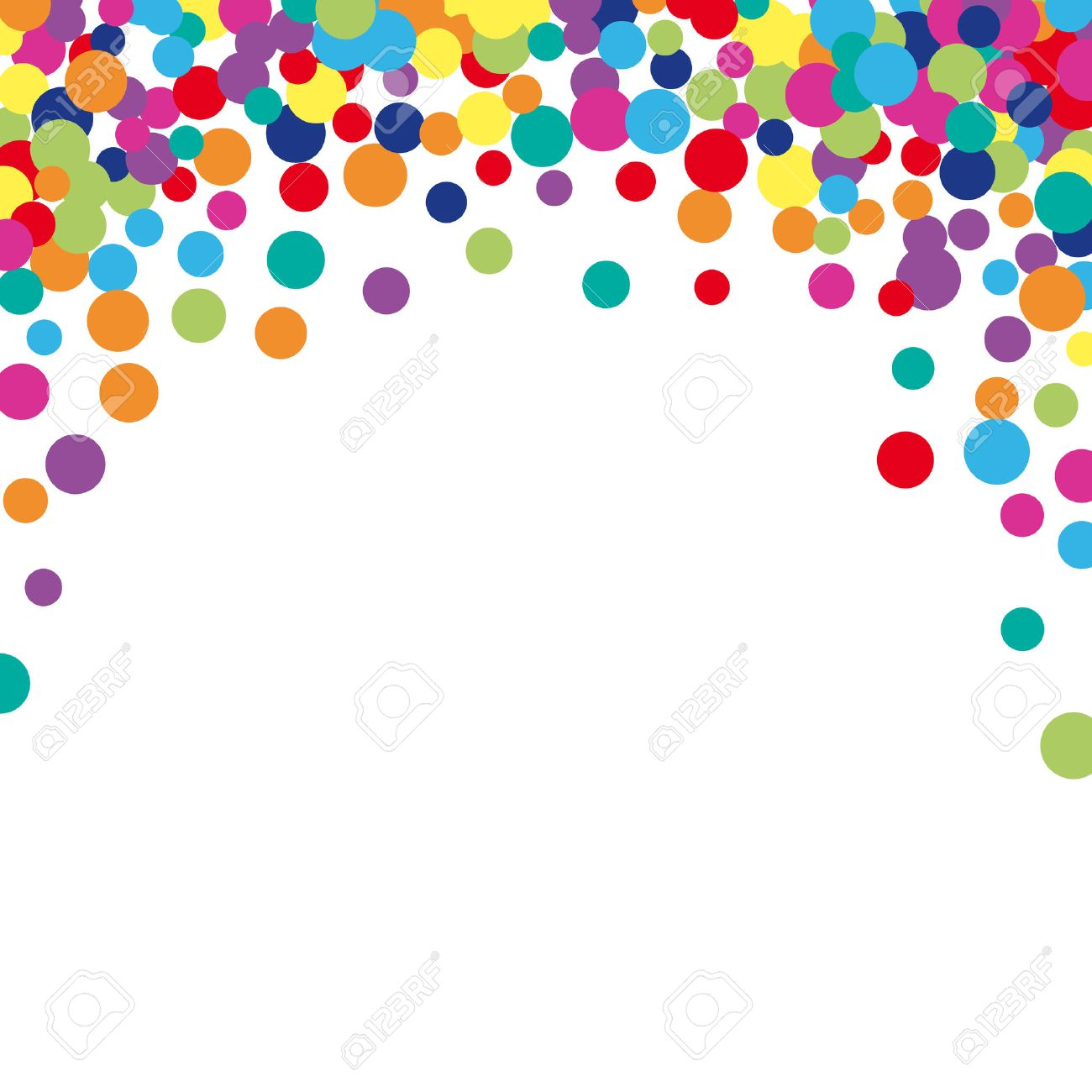 Colorful abstract spot background. Vector illustration for bright design. Art splash backdrop. Modern pattern decoration. Color holiday wallpaper. Fun dot card. Happy mood style. Fiesta drop paint - 57879042