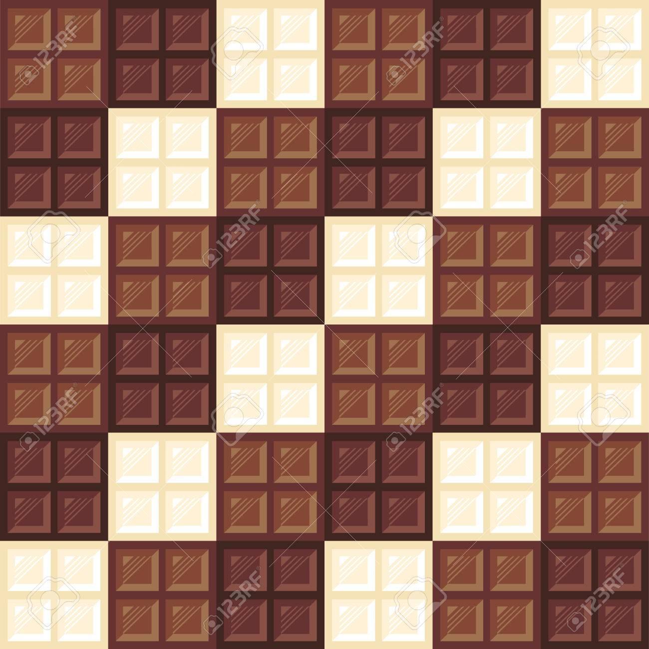 チョコレート バーのシームレスなパターン 異なったタイプのダーク