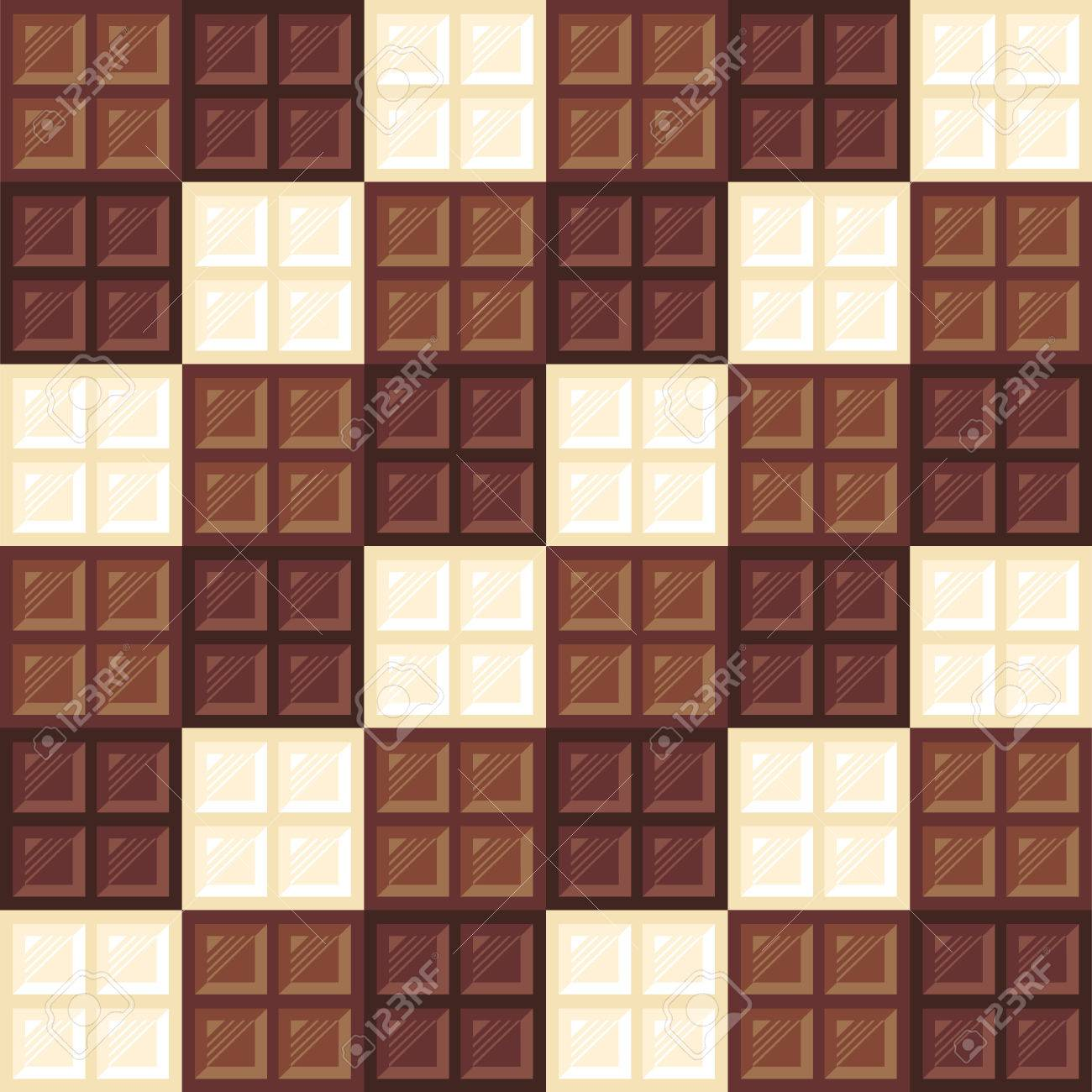 Chocolate Bars Seamless Pattern. Different Types Of Chocolate ...