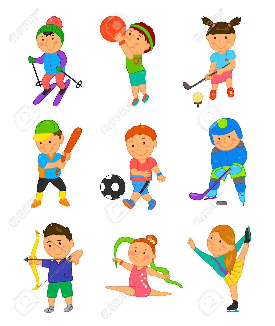 Cartoon Sport Kids Vector Illustration For Children Game Design Royalty Free Cliparts Vectors And Stock Illustration Image 60178602