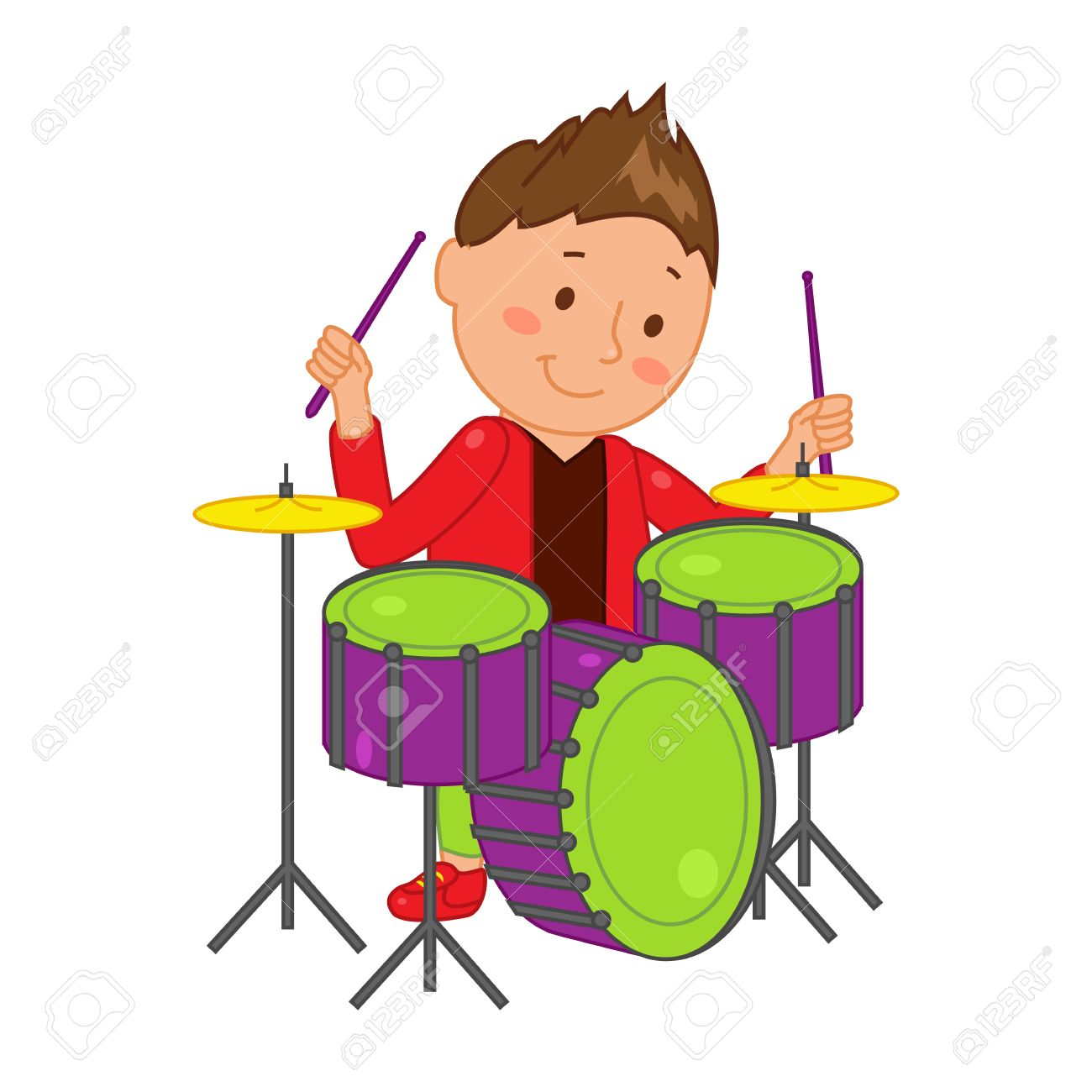 cartoon musician kid vector illustration for children music rh 123rf com drums clipart african drummer clipart