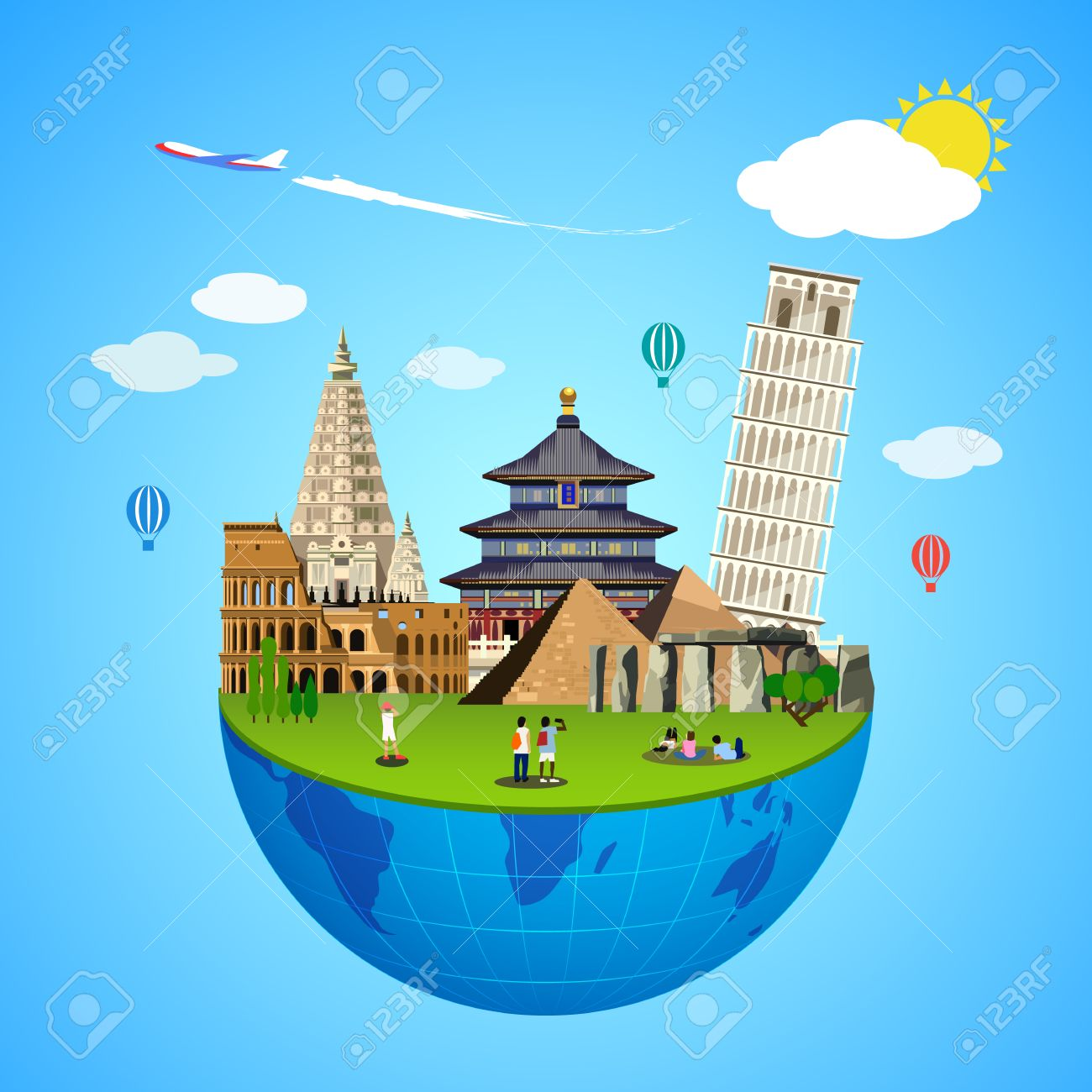 World Landmarks Concept Vector Illustration For Travel Design Royalty Free Cliparts Vectors And Stock Illustration Image 66437791