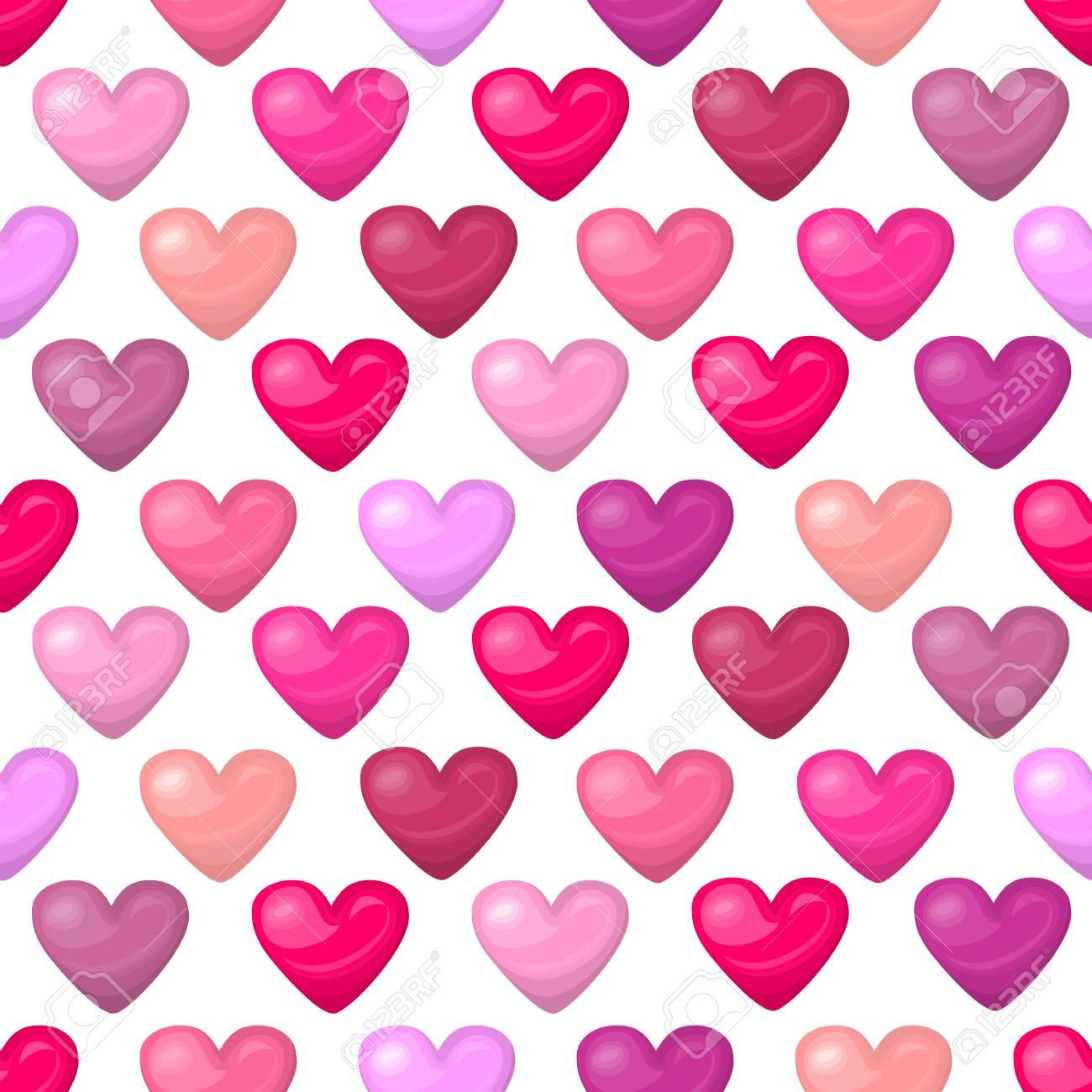 Corazón Sin Patrón Bonito Y Brillante Aislado En El Fondo Blanco ...