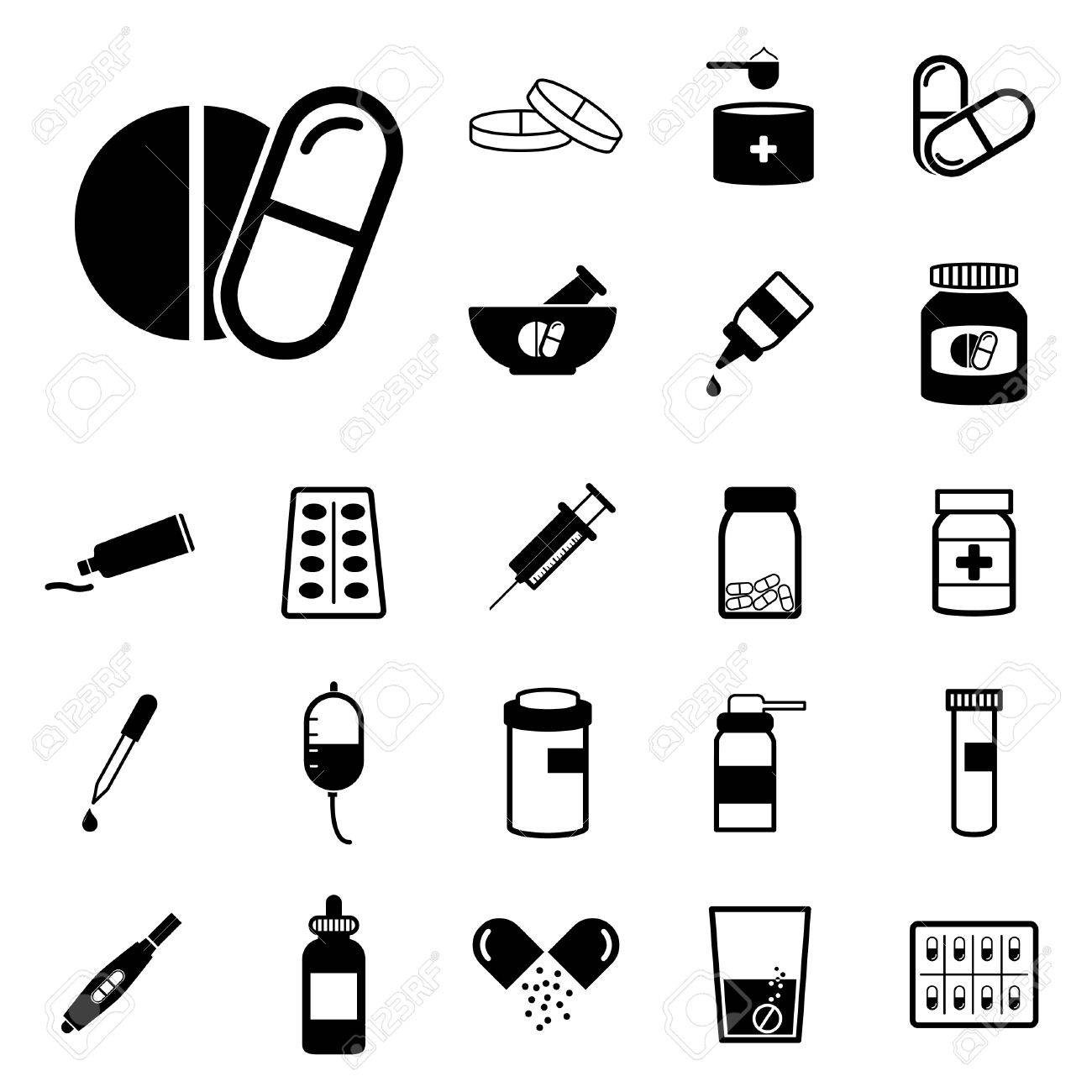 pharmacy and drug icons set vector illustration royalty free cliparts vectors and stock illustration image 76693865 pharmacy and drug icons set vector illustration
