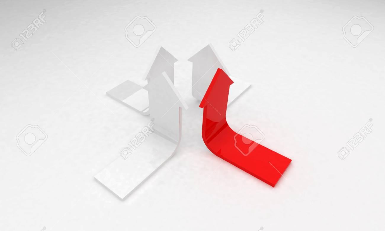 3D arrows - growth concept leadership