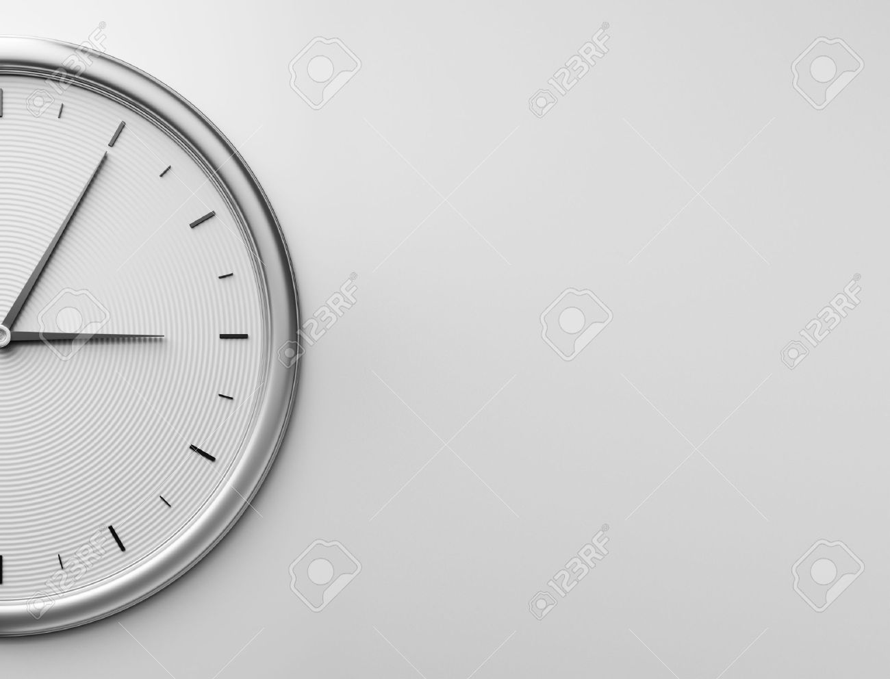 Wall Clock Stock Photos Royalty Free Images Circuit Board Design Square Of Metal 3d Rendering
