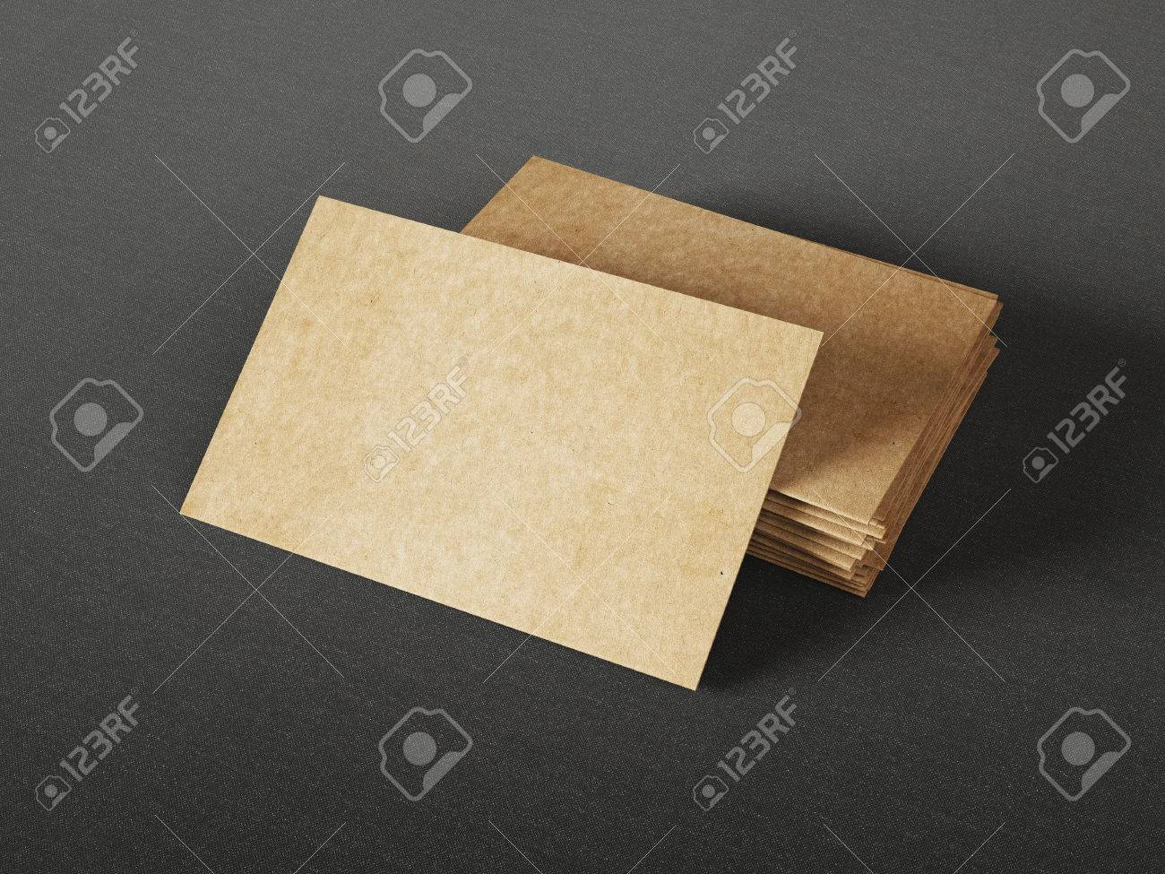 Cardboard Business Cards On Dark Background Stock Photo, Picture And ...