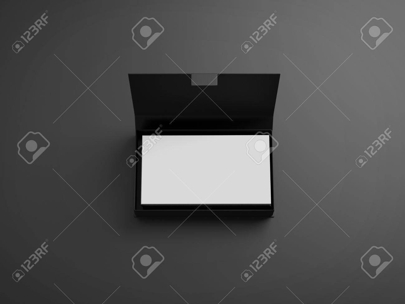 Blanc Cartes De Visite Dans La Boite Noire Banque DImages Et Photos