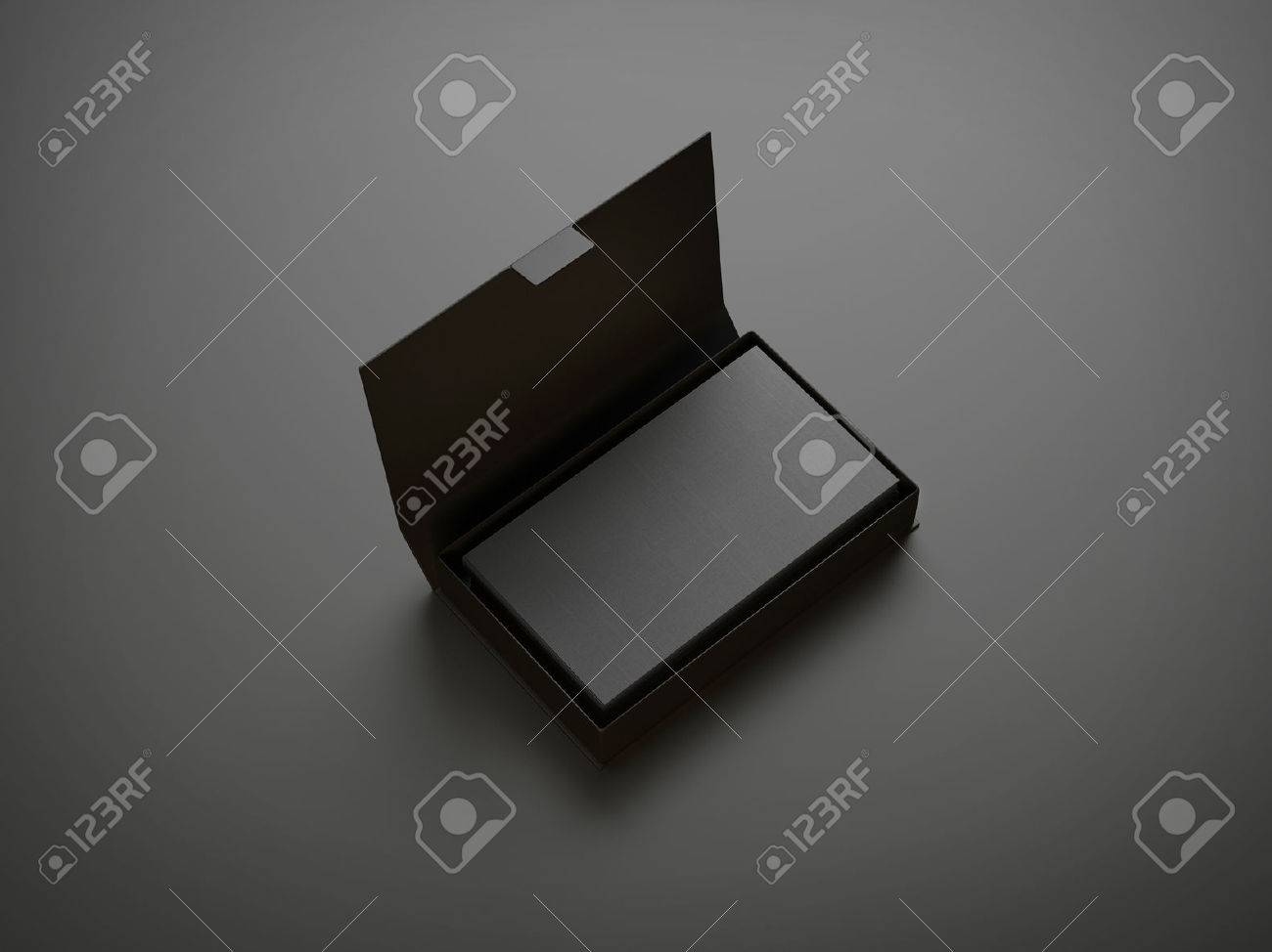 Black Business Card In The Box Stock Photo, Picture And Royalty Free ...