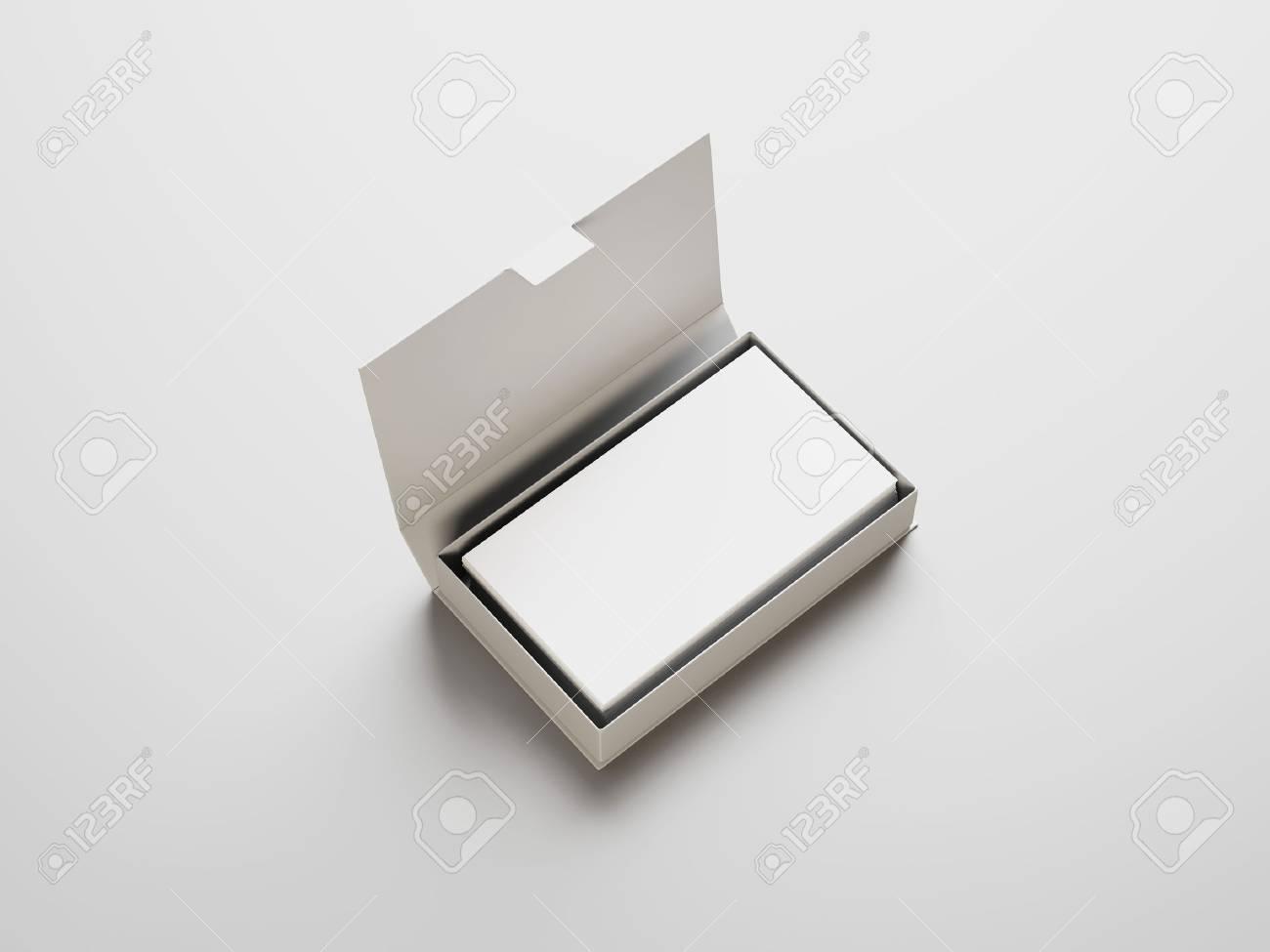 Blanc Cartes De Visite Dans La Boite Banque DImages Et Photos