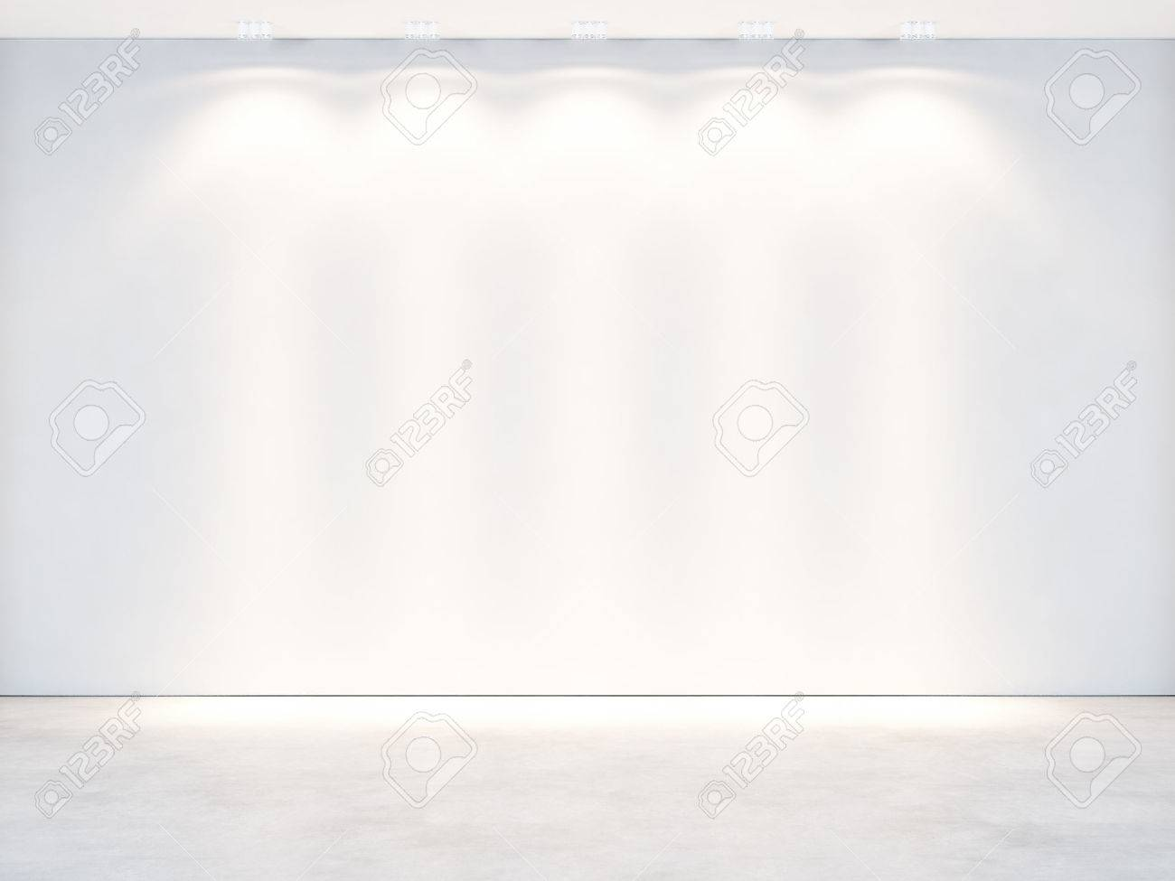 White office interior. 3D rendering - 40390615