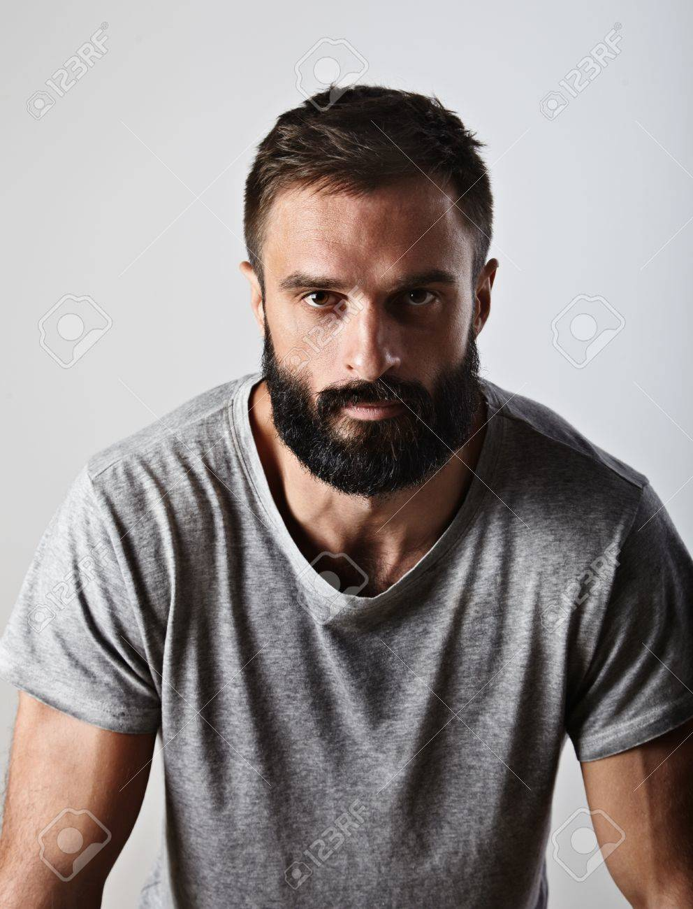 Handsome bearded man