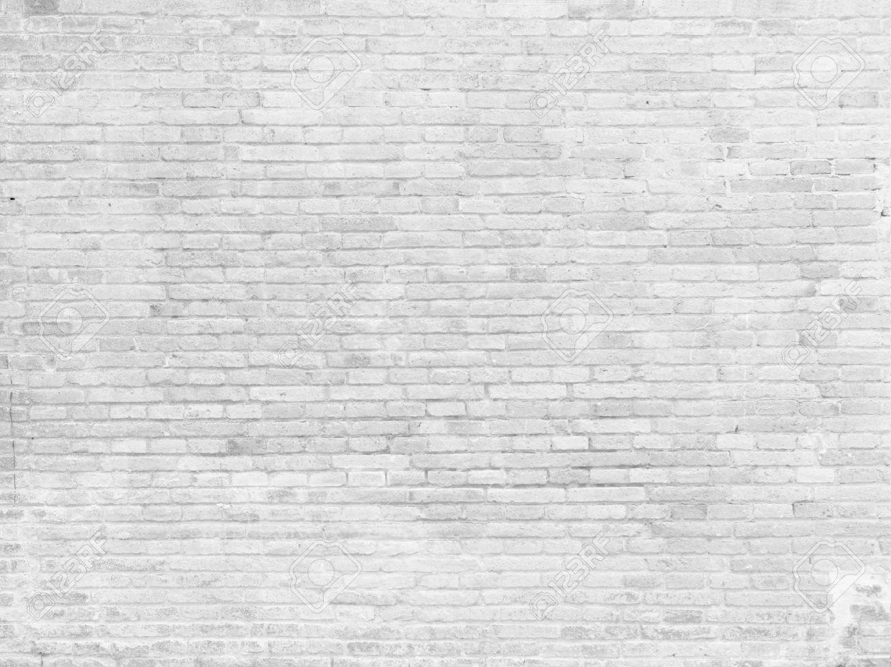 Part of white painted brick wall, horizontal Stock Photo - 46966906