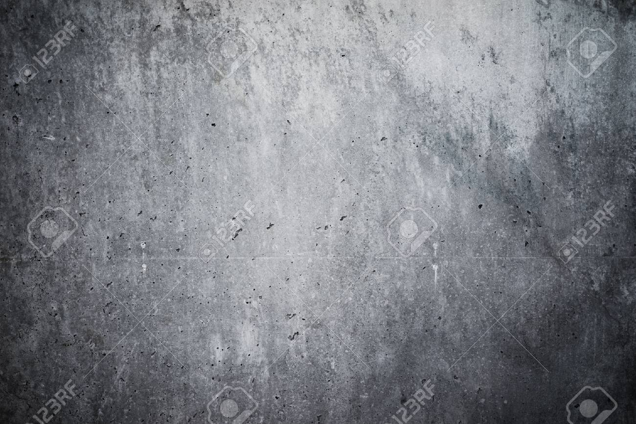 Highly detailed and empty concrete wall. Gray background, horizontal - 50793307