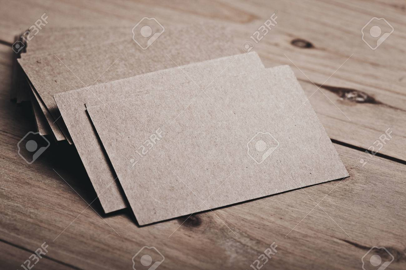 Closeup of blank and craft business cards on natural wood table closeup of blank and craft business cards on natural wood table horizontal color reheart Gallery