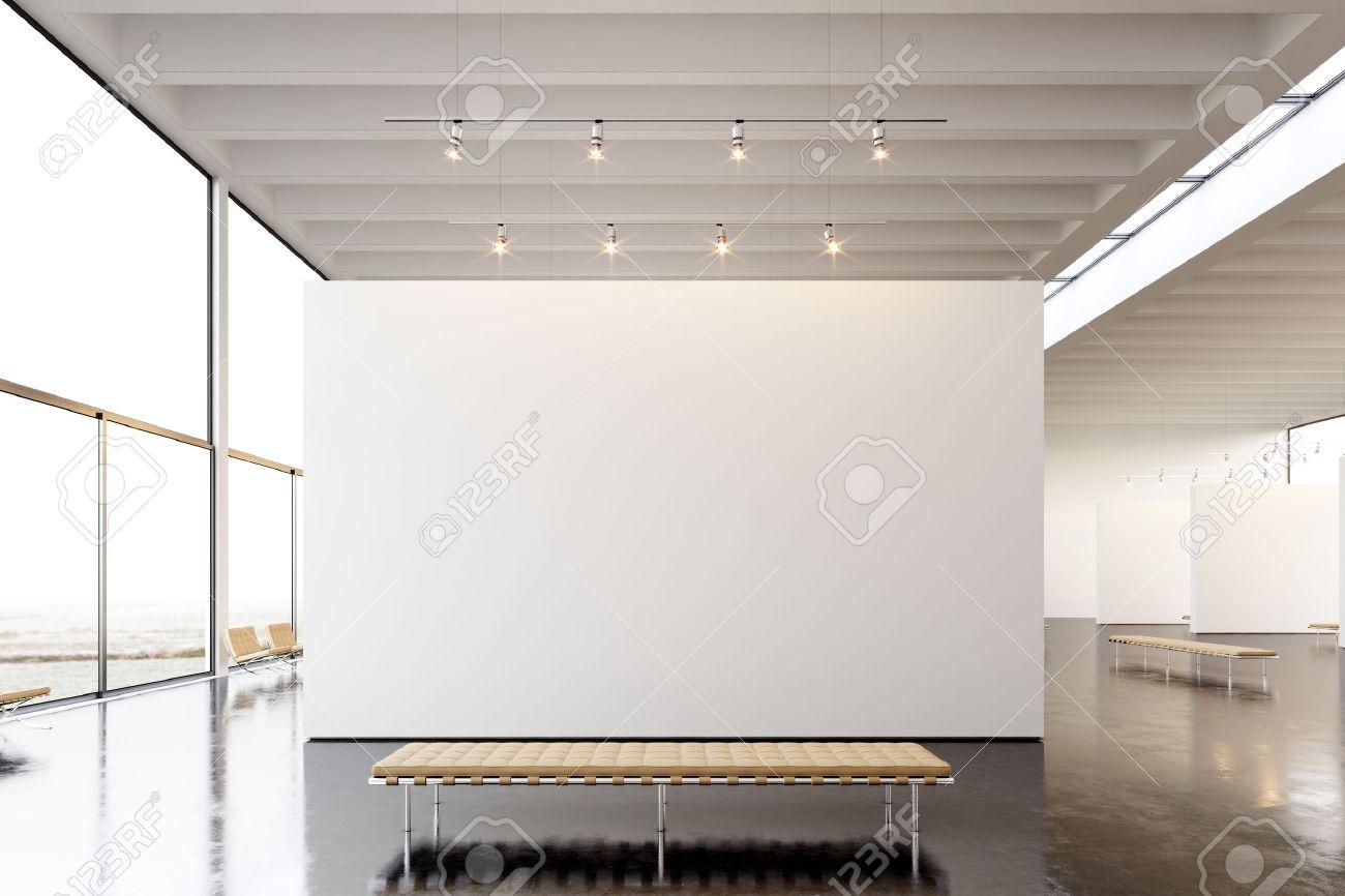 Bild Ausstellung Der Modernen Galerie, Offen Space.Blank Weiße Leere ...