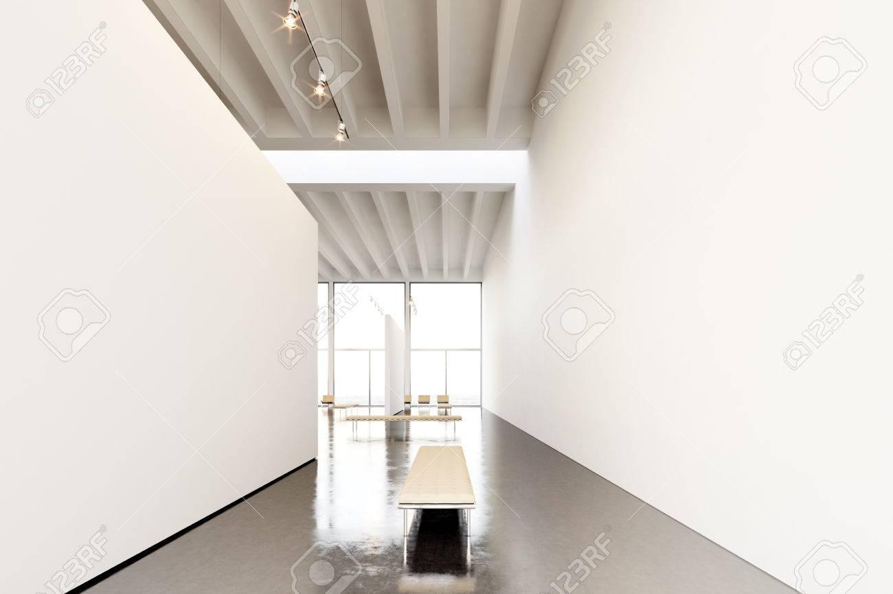 Fotoausstellung Raum Moderne Gallery.Huge Weiße Leere Leinwand ...