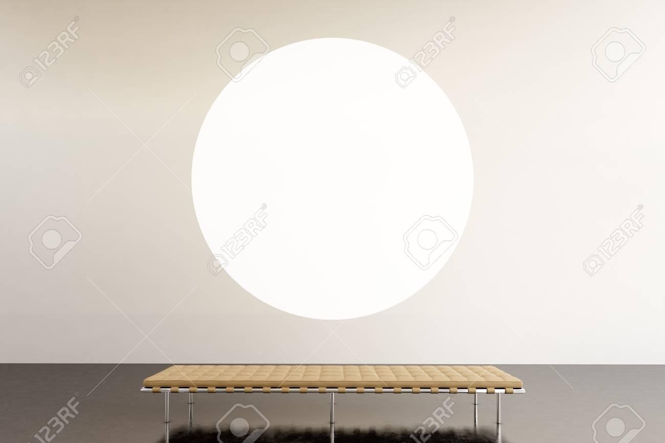 Foto Ausstellung Raum Moderne Gallery.Round Weiß Leere Leinwand ...