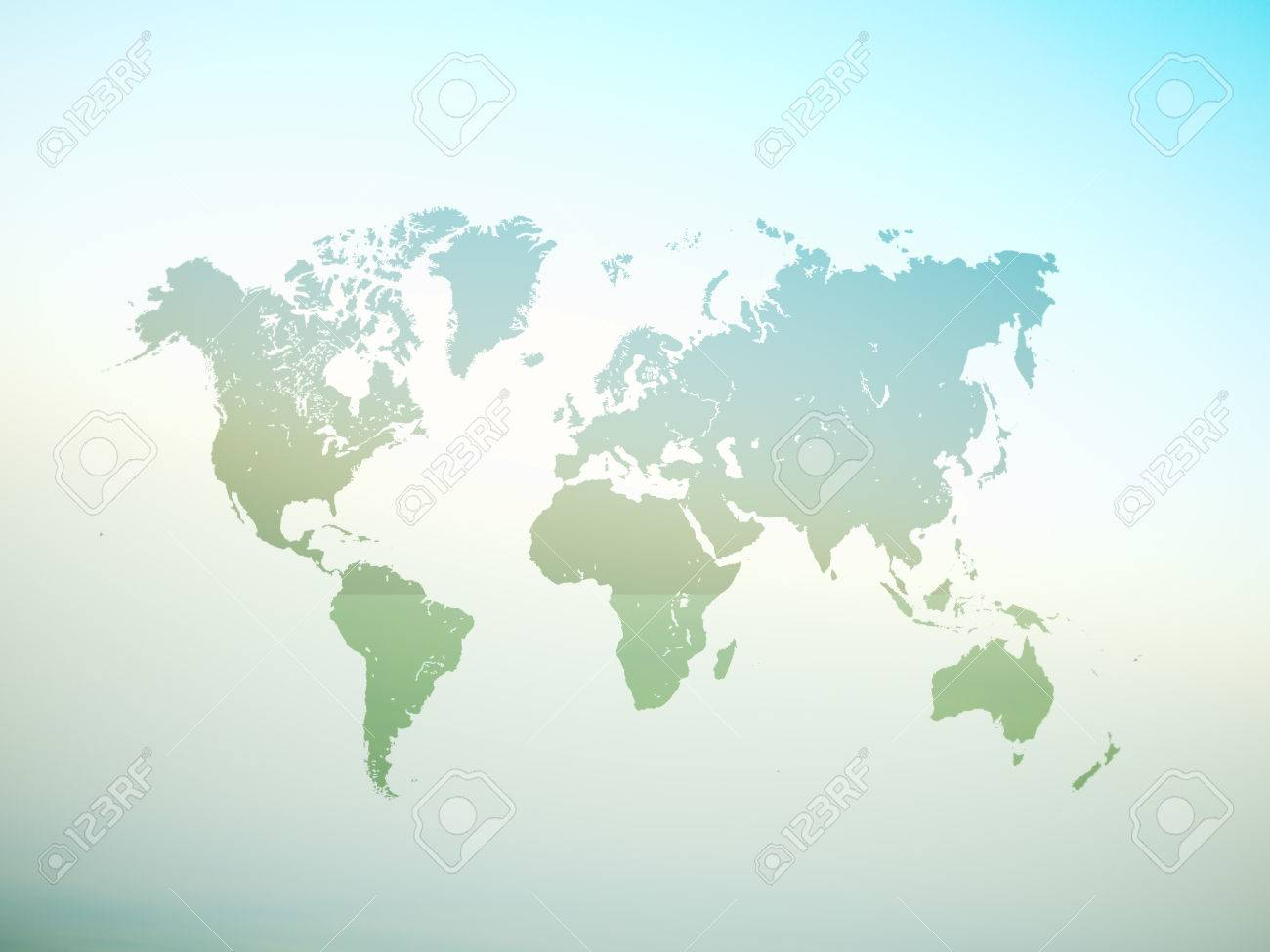 Blank Green Color Texture Political World Map D Rendering - Blank world map green