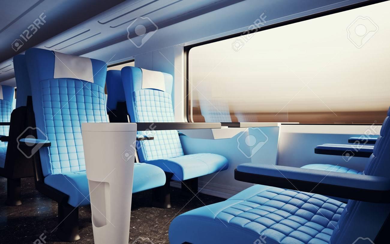 Surprising Interior Inside First Class Cabin Modern Speed Express Train Nobody Frankydiablos Diy Chair Ideas Frankydiabloscom