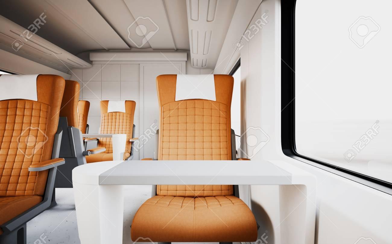 Modern Komfortabel Ledersessel Innen First Class Kabine Fast Speed ...