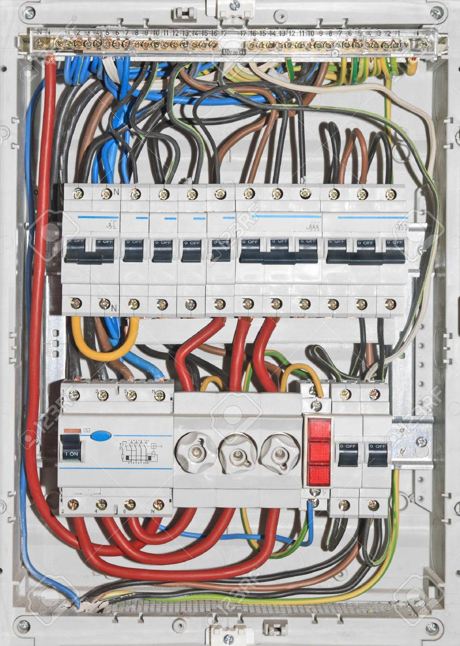 Domestic Electrical Distribution Board Mounted On Wall Stock Photo Picture And Royalty Free Image Image 25312841