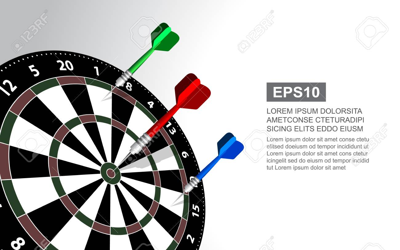 Dartboard Vector Illustration Isolated For Darts Game Target