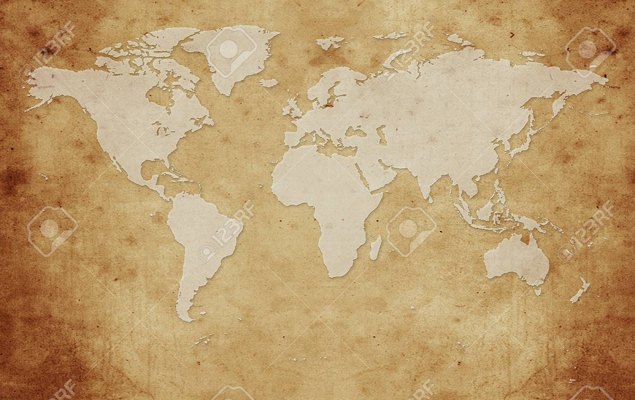 Vintage Global Map Old Paper Texture Background Stock Photo Picture And Royalty Free Image Image 35981062
