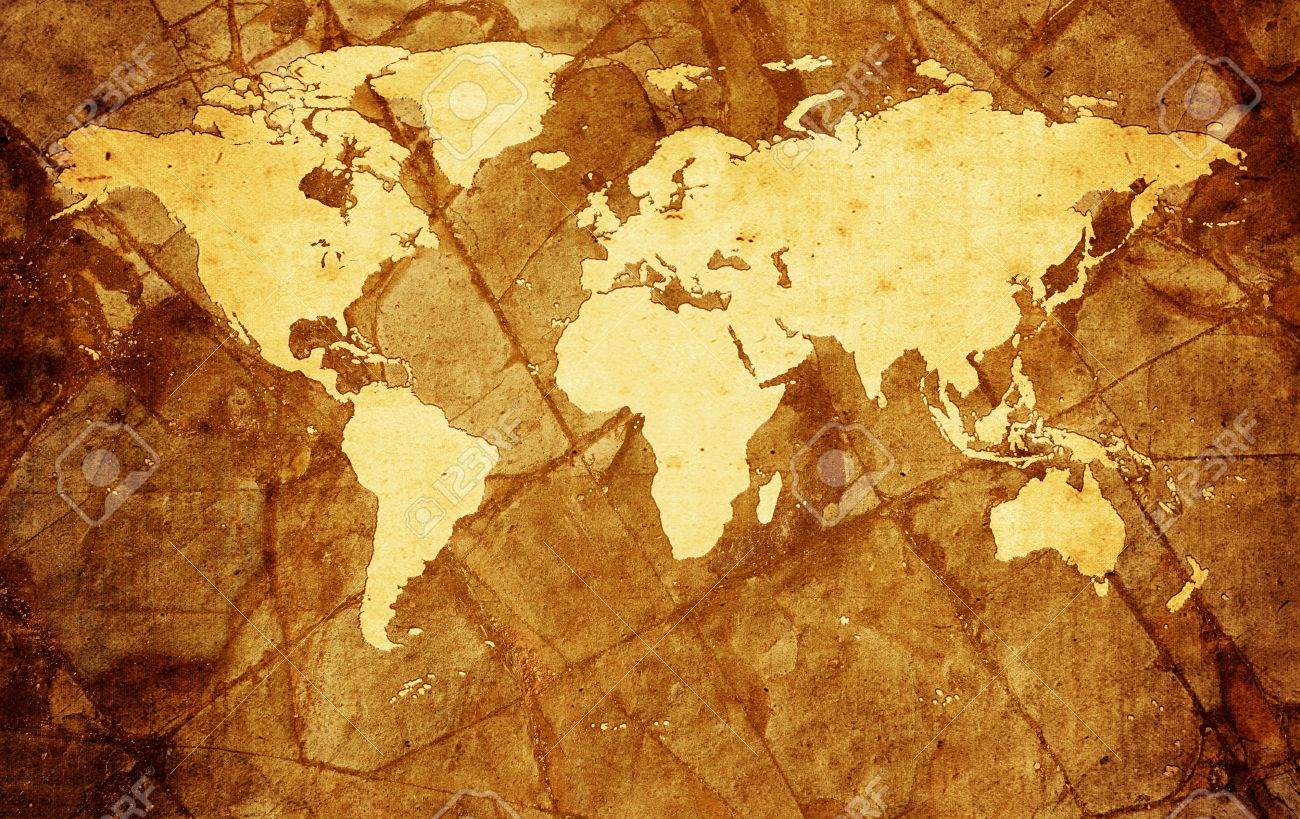 Vintage global map old rock or stone paper texture background stock stock photo vintage global map old rock or stone paper texture background gumiabroncs Gallery