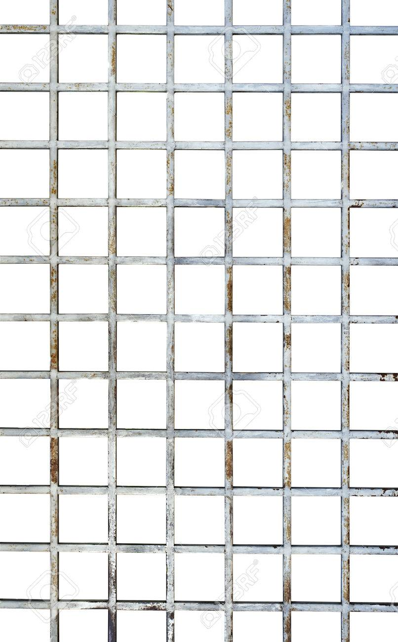 Welded Wire Mesh, Vertical Rebar Isolated On White Background ...