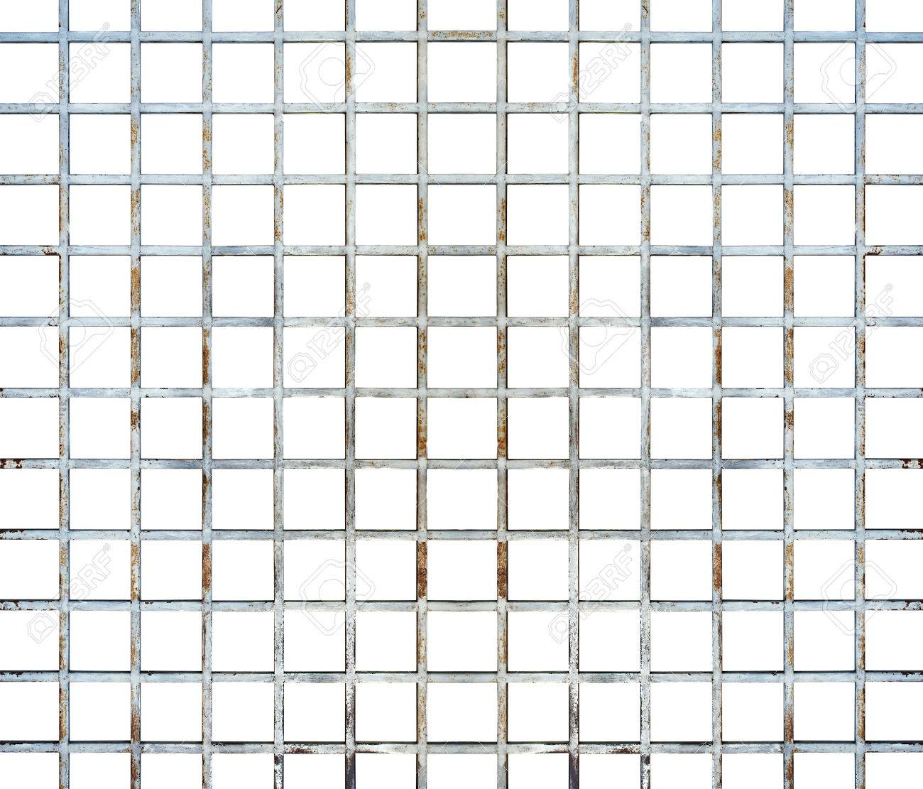 Welded Wire Mesh, Rebar On White Background, With Clipping Path ...