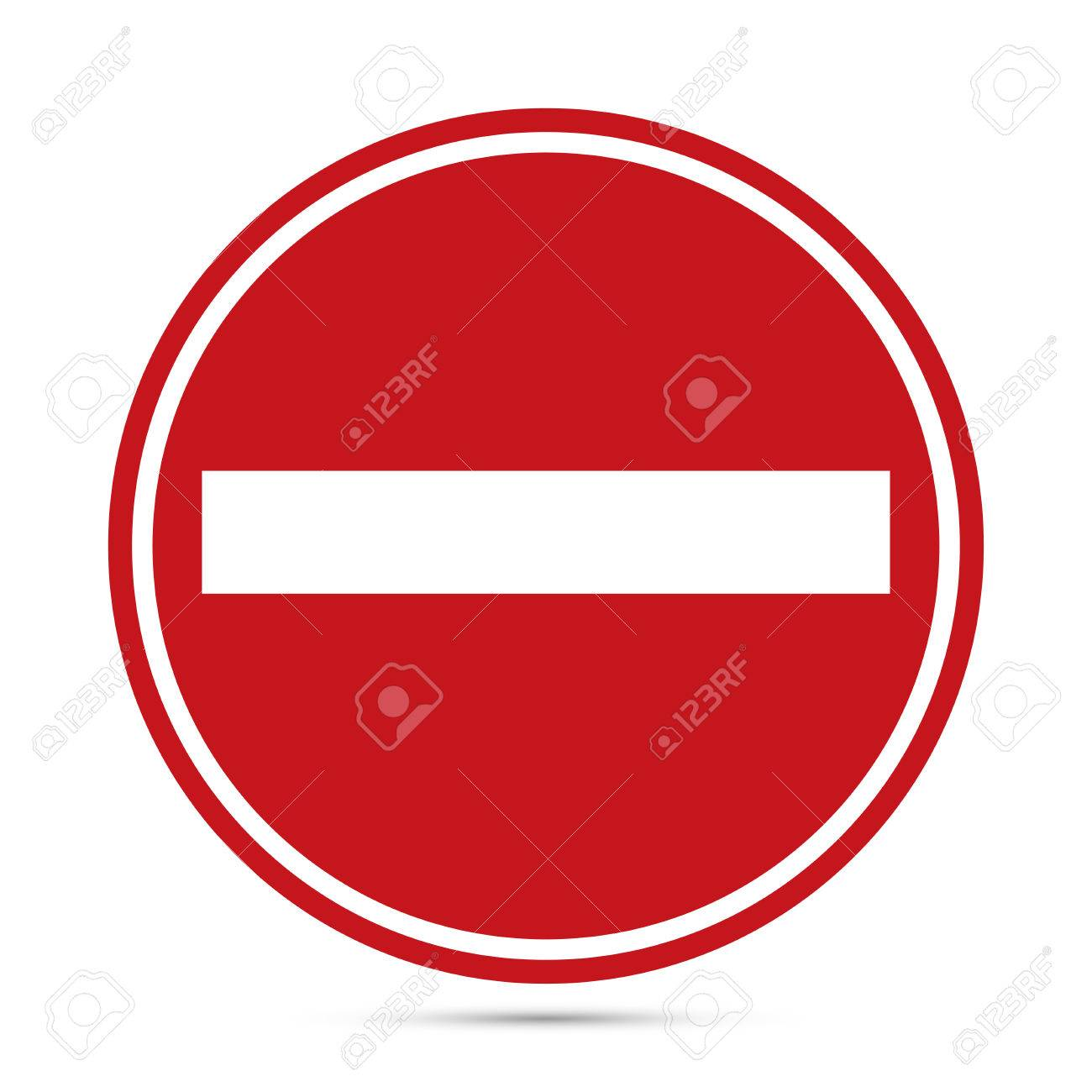 Traffic sign, Warning red circle icon on white background. Prohibition concept, No traffic street symbol. Vector EPS10 - 51375930