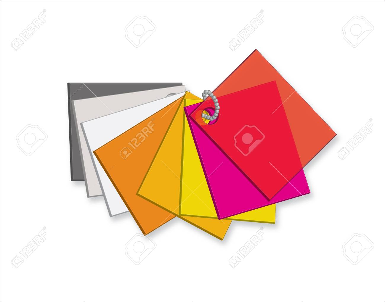 Color Plastic Samples Isolated On A White Background. Color Palette ...