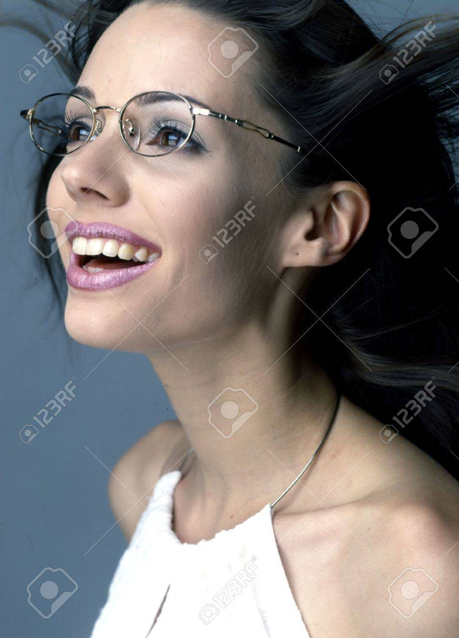 Beautiful girl with glasses white-collar workers Stock Photo - 9270368