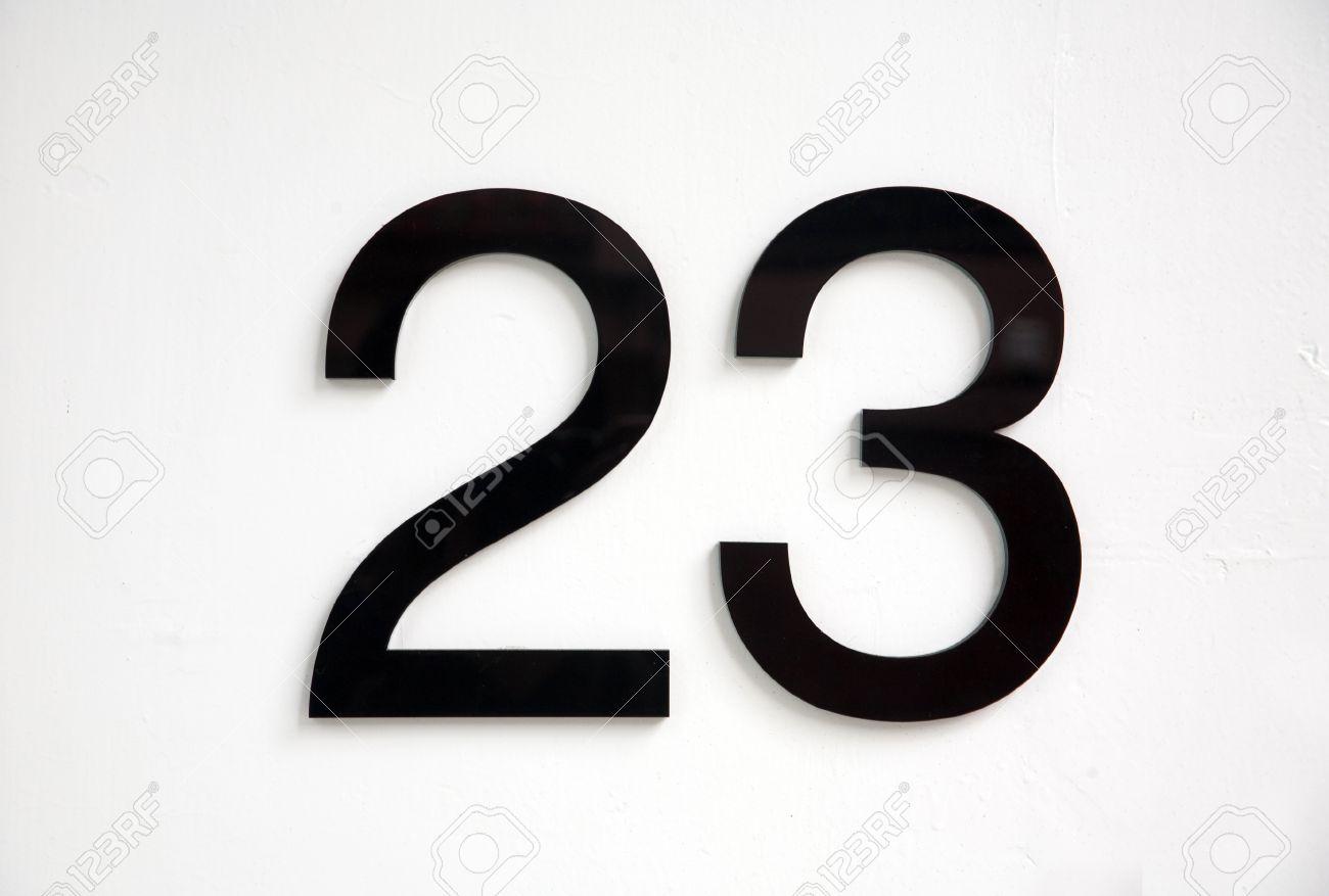 black number 23 on door Stock Photo - 12826469