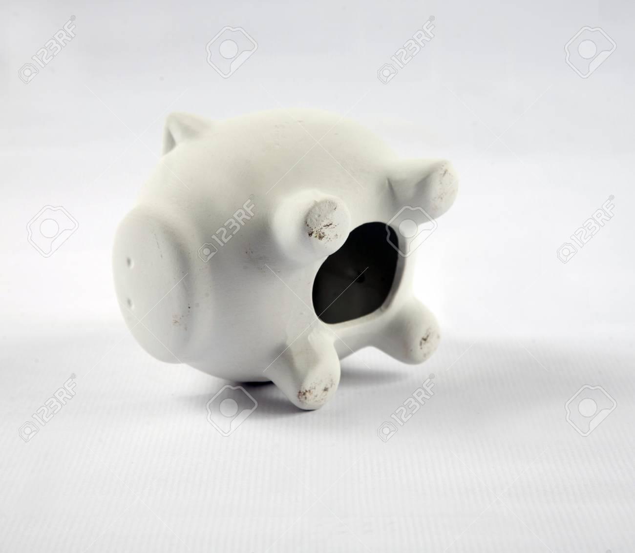 White pig piggy banks Stock Photo - 17341029