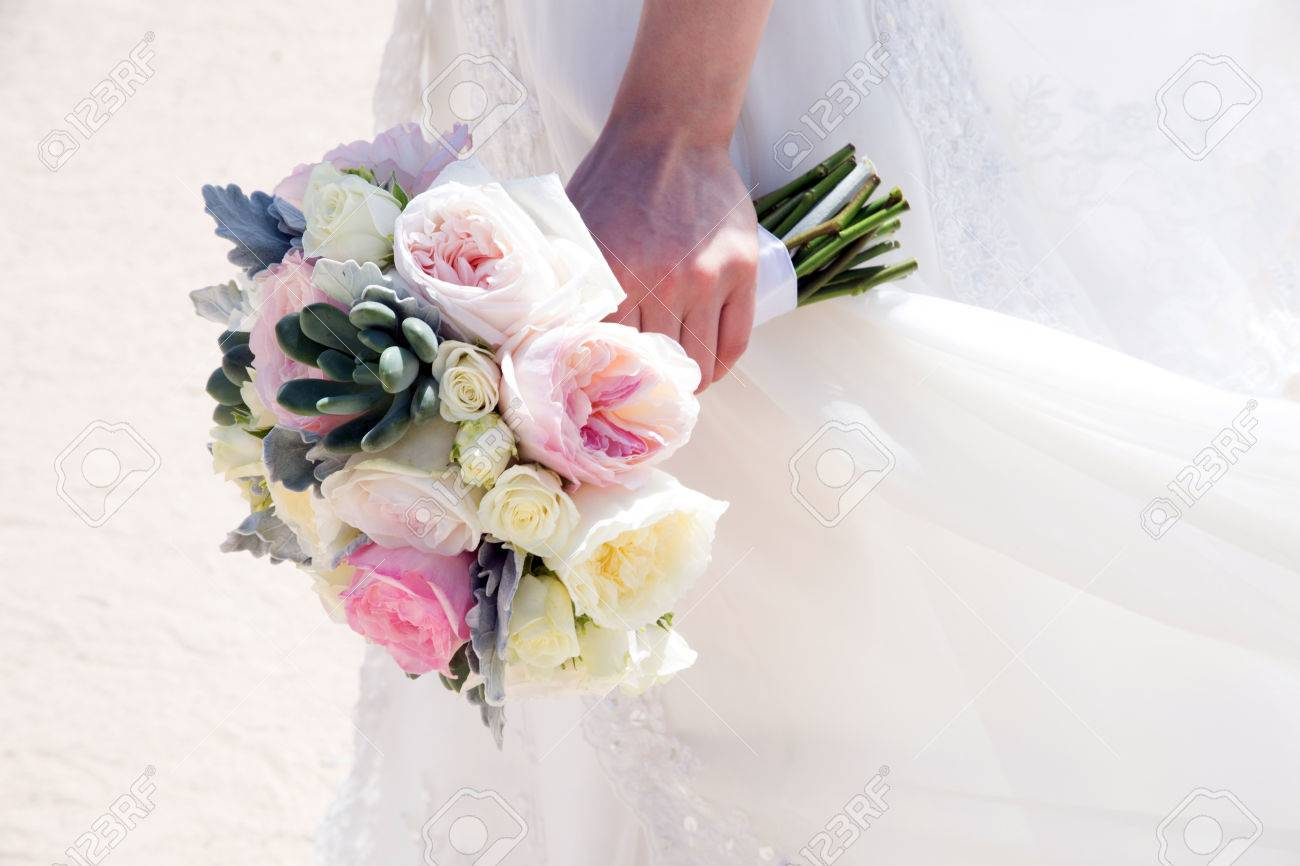 Flowers at an outdoor wedding venue/Wedding venue flowers Stock Photo - 28174551
