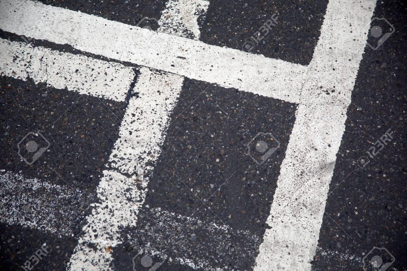 道路の白線 の写真素材・画像素...