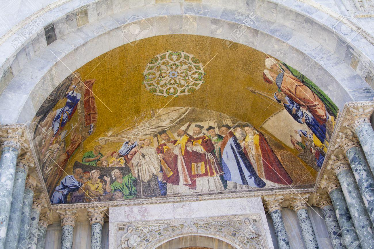 Fresco Basilica Di San Marco In Venice Stock Photo, Picture And ...