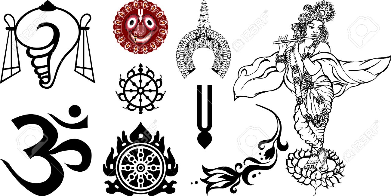 Signs And Symbols Of East And India Royalty Free Cliparts Vectors