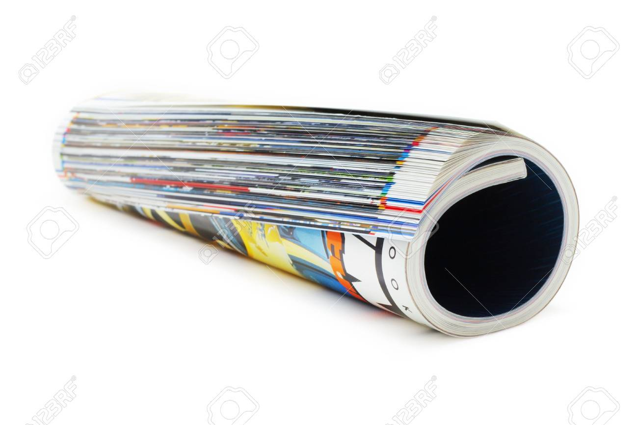 shot of the magazine roll (Shallow DOF) on a white background with pretty shadow - 819858