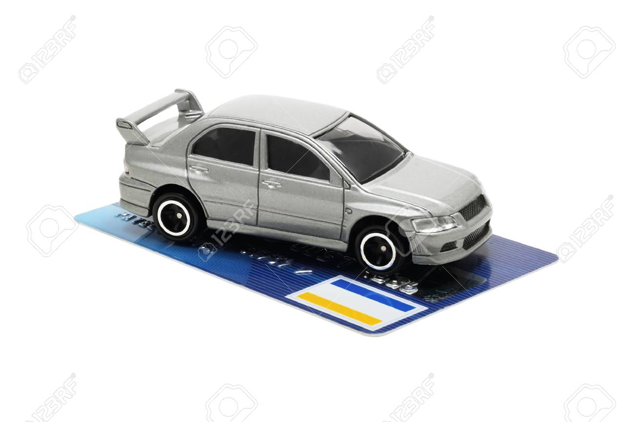 conception - buy new automobile by credit card - 819897