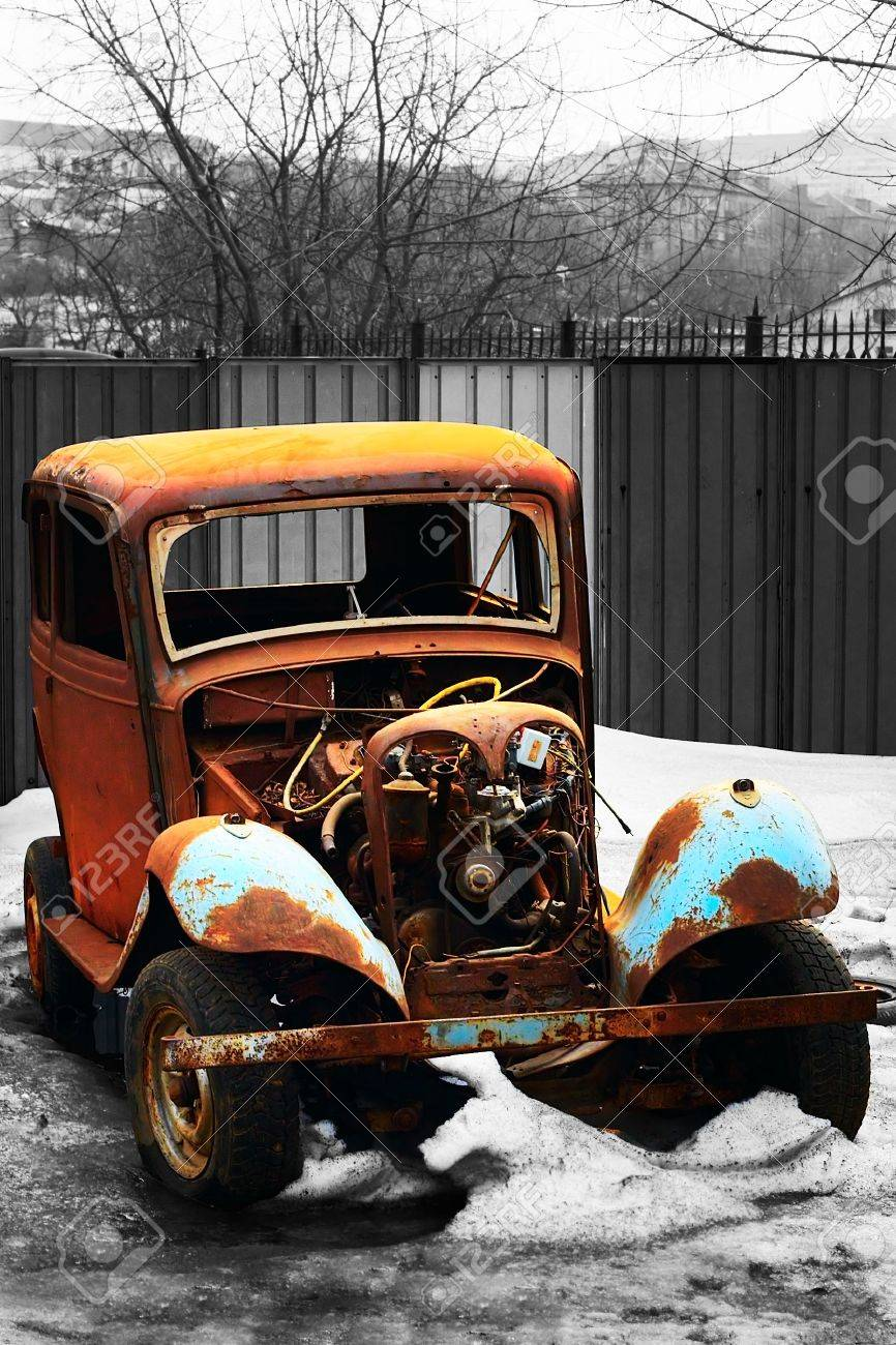 rusty vintage car of an epoch of 1940s - 867656