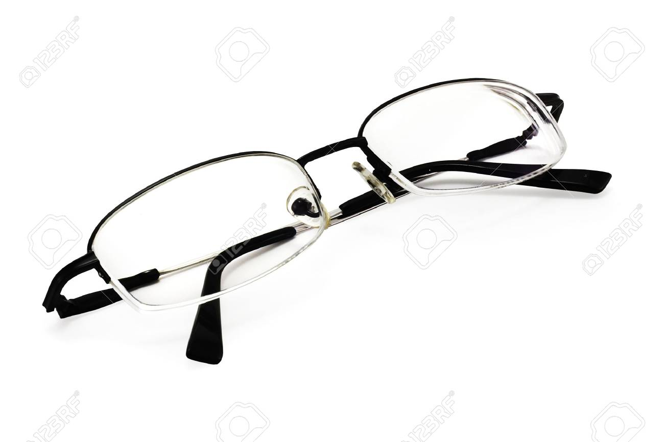 eyeglasses on a white background with smooth shadow and clipping path for designers - 933646