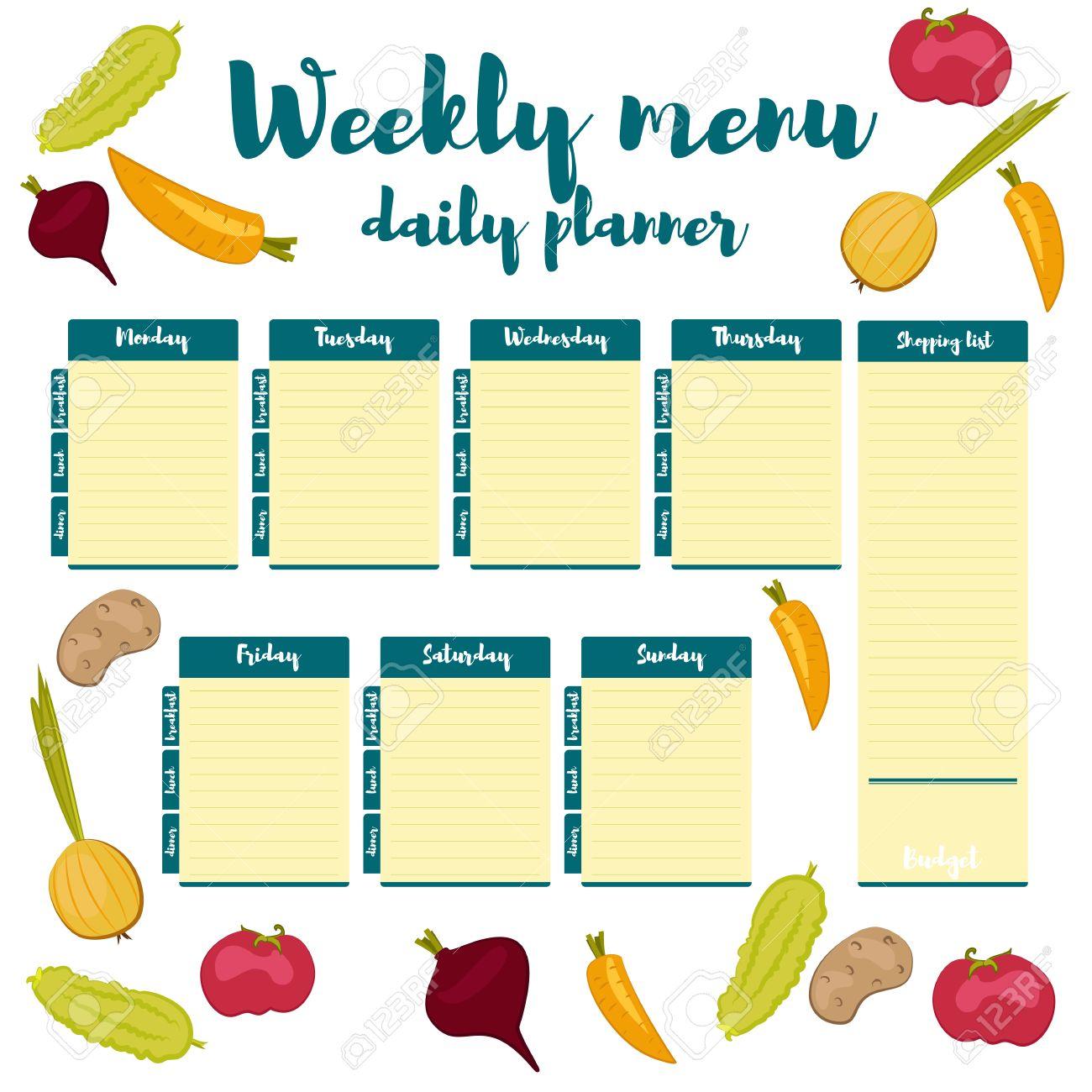 Blaue Farbe Frisch Papier Hinweis Woche Eine Gesunde Ernährung Von ...