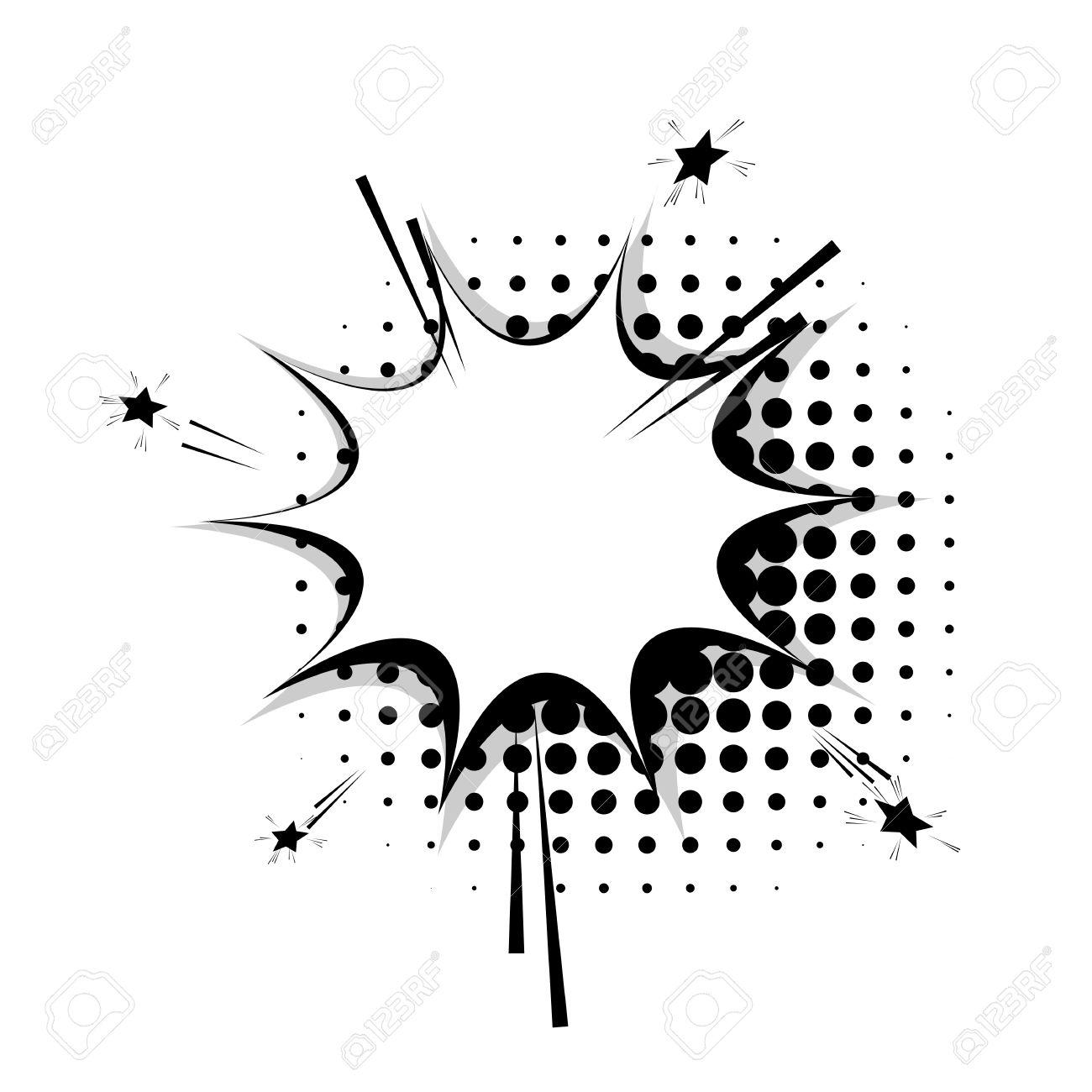 blank star template blank template comic text speech star stock