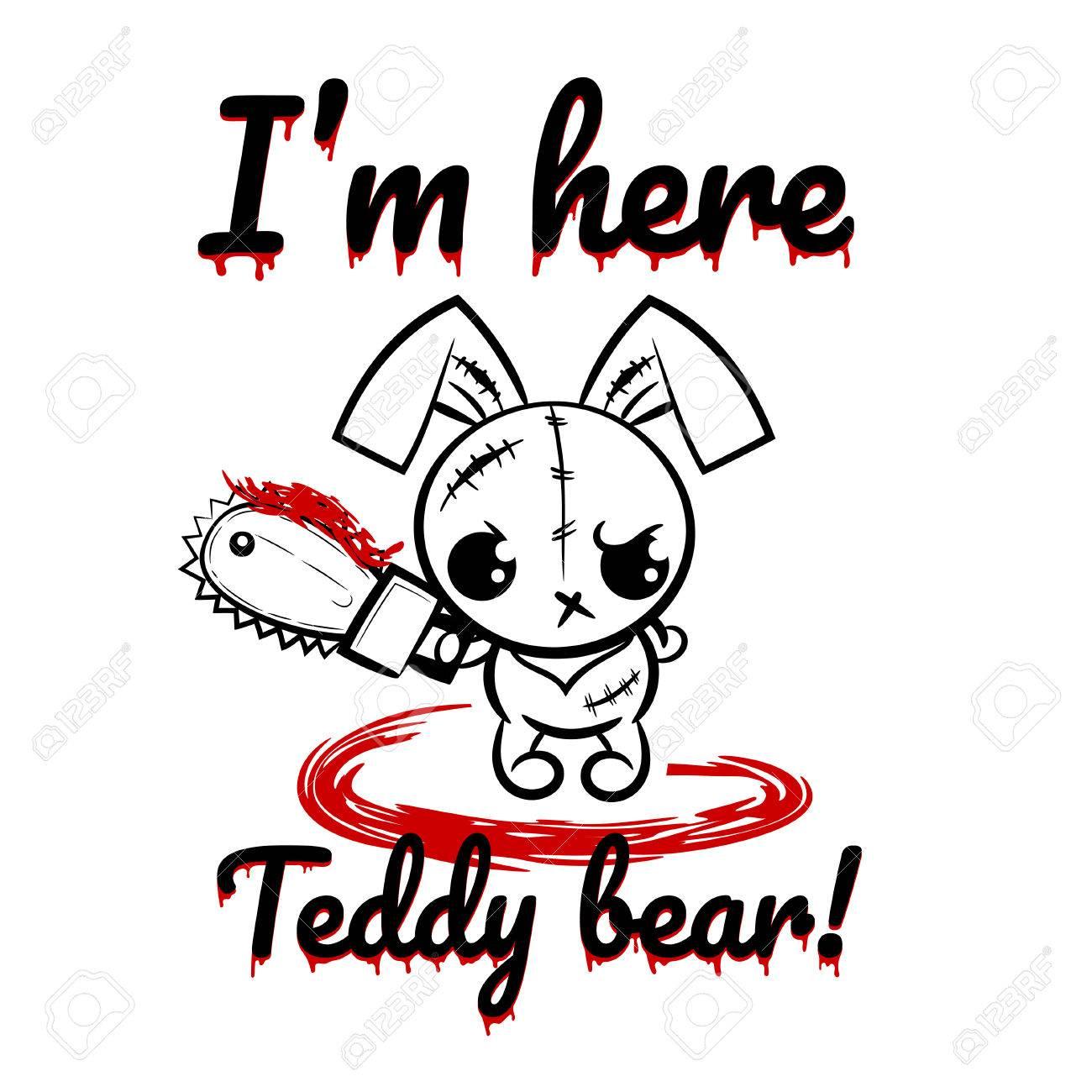 Pop-Art Wow Comic-Buch-Text-Party. Halloween Böse Hase Kaninchen ...