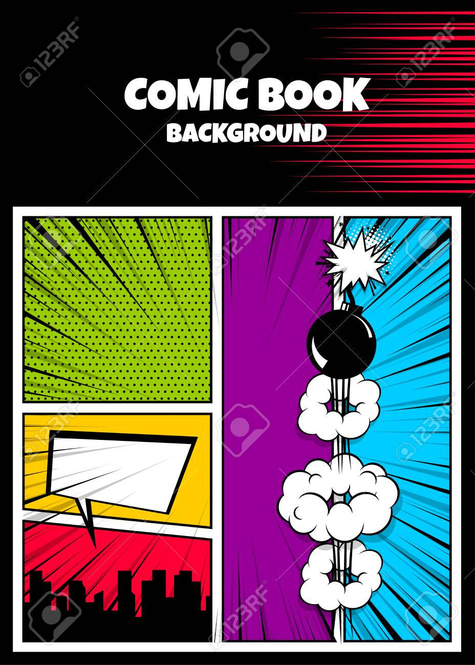 pop art comic book cover template royalty free cliparts vetores e